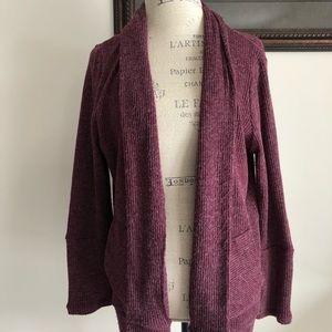Sweaters - Women's maroon cardigan